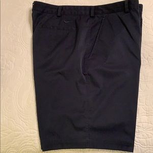 EUC Nike Golf Dri-Fit flat front Navy Blue shorts